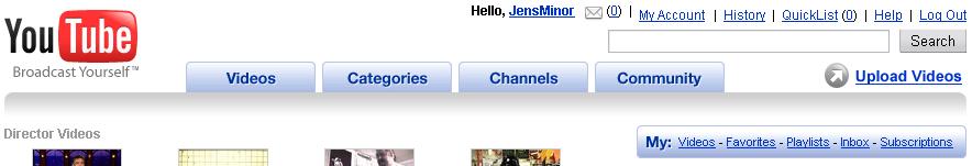 Neue YouTube-Navigation