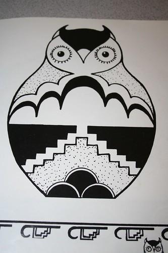 Pueblo owl design