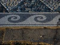 Pella Pebble Mosaic Floor Border   Mosaic Art Source