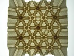 Star/flower tessellation, star side, backlit