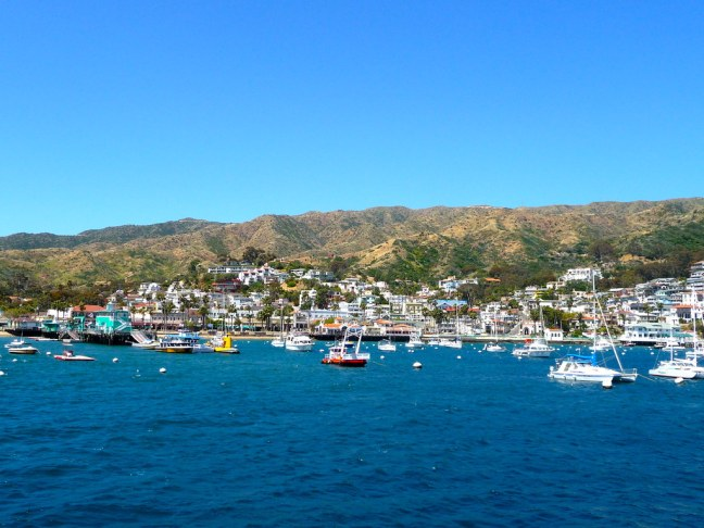 View of Avalon Harbor from ferry