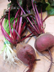 beets and scallions