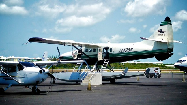 Boarding seaplane at Key West International Airport