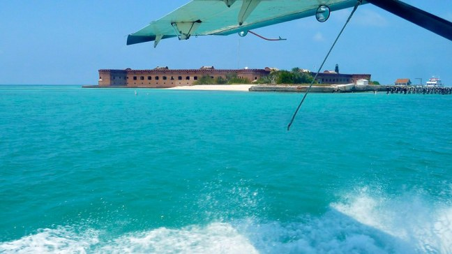 Landing at Dry Tortugas National Park