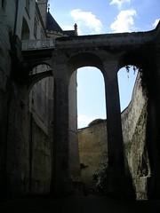 Fosso do chateau de Brezé (ponte no detalhe)