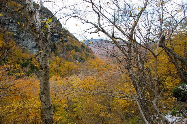 Hiking up Smuggler's Notch near Stowe