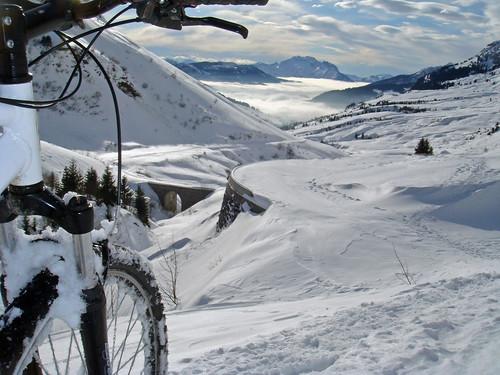 Snowy Hairpins - Col de la Colombière