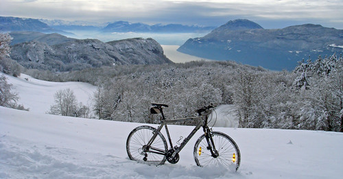 View of Lac du Bourget from near Col du Sapenay