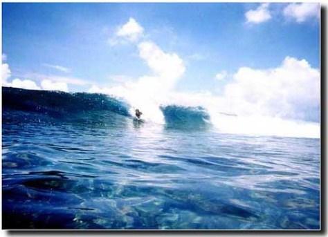 Magundas surf break in guam