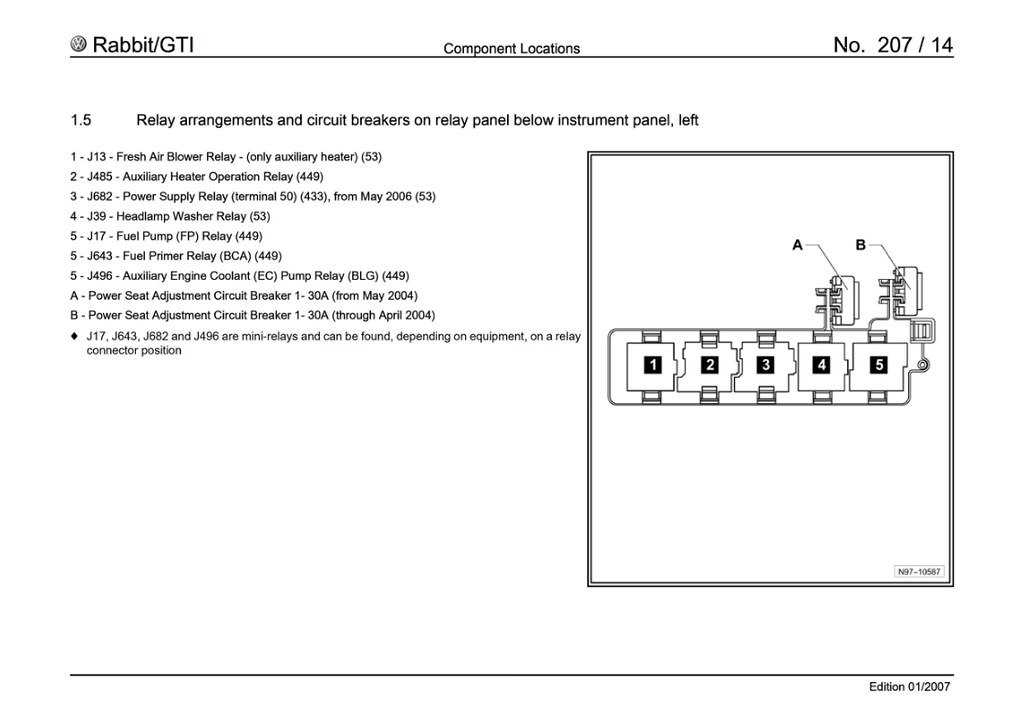 VWVortex - MKV Fuse Panel Diagram
