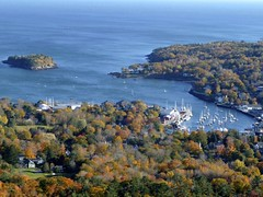 Camden, Maine from atop Mount Battie