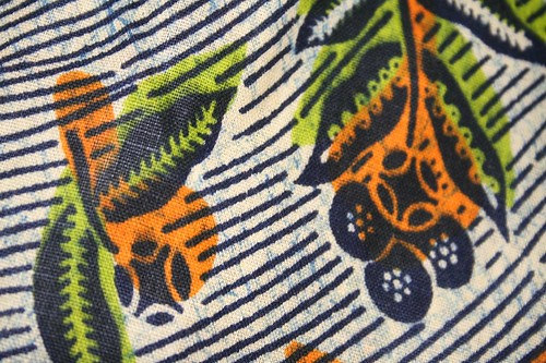 close up of African fabric