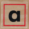 Rubber Stamp Letter a