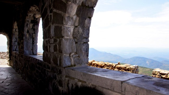 Inside castle atop Whiteface Veterans Memorial Highway