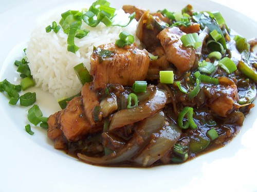 Chiclli Chicken with Steamed rice