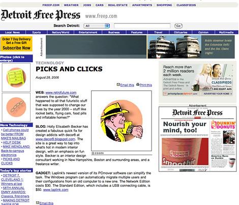 Thanks Detroit Free Press!