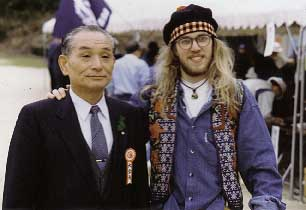 With Mayor of Misasa, Tottori, Japan during Petanque tournament