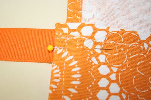 Pretty pinned fabric