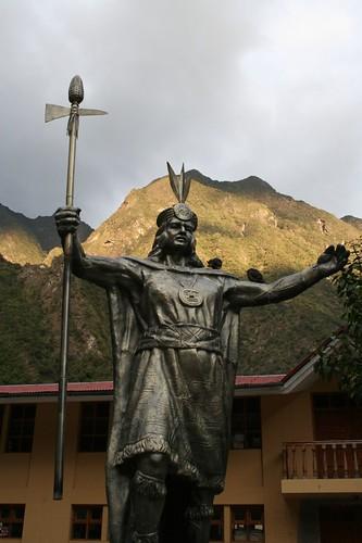 Incan warrior, Aguas Calientes