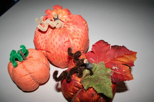 Pincushion pumpkins