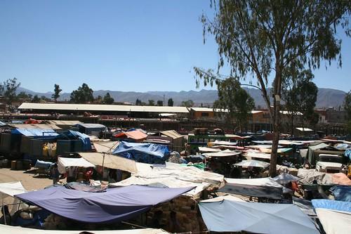 The open air market of Tarija