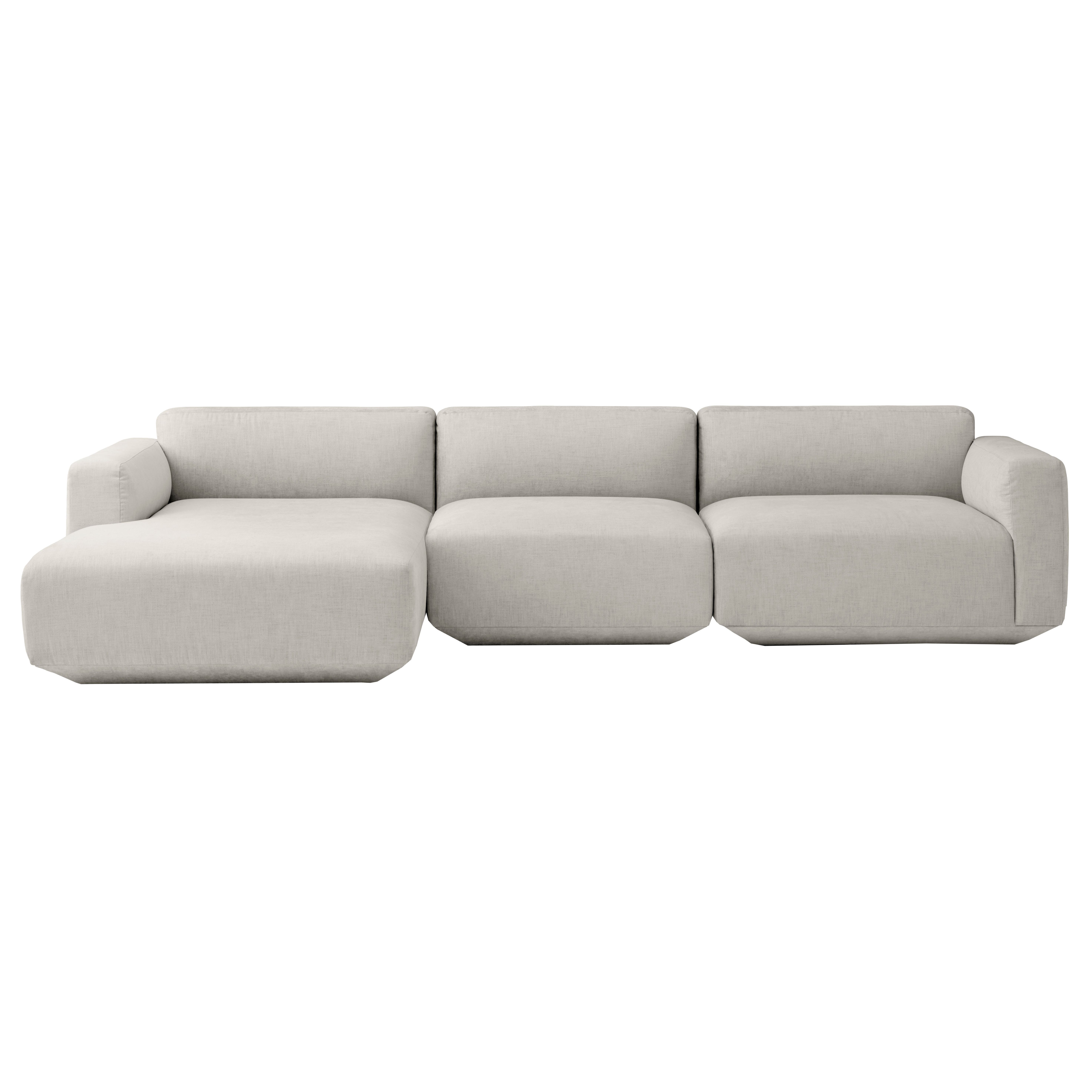 Bank Met Chaise Longue Links Andtradition Develius Bank 3 Zits Met Chaise Longue Links