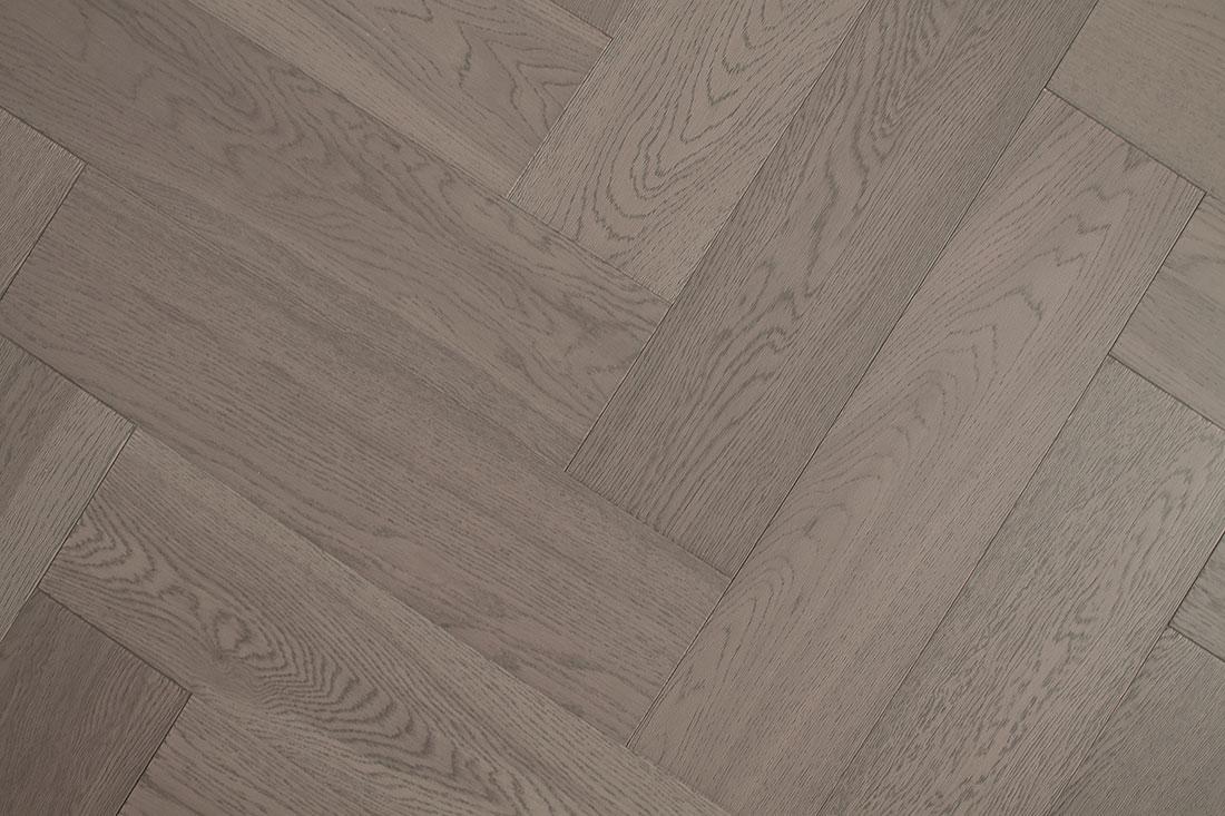 Natura Oak Truffle Grey Herringbone Engineered Parquet