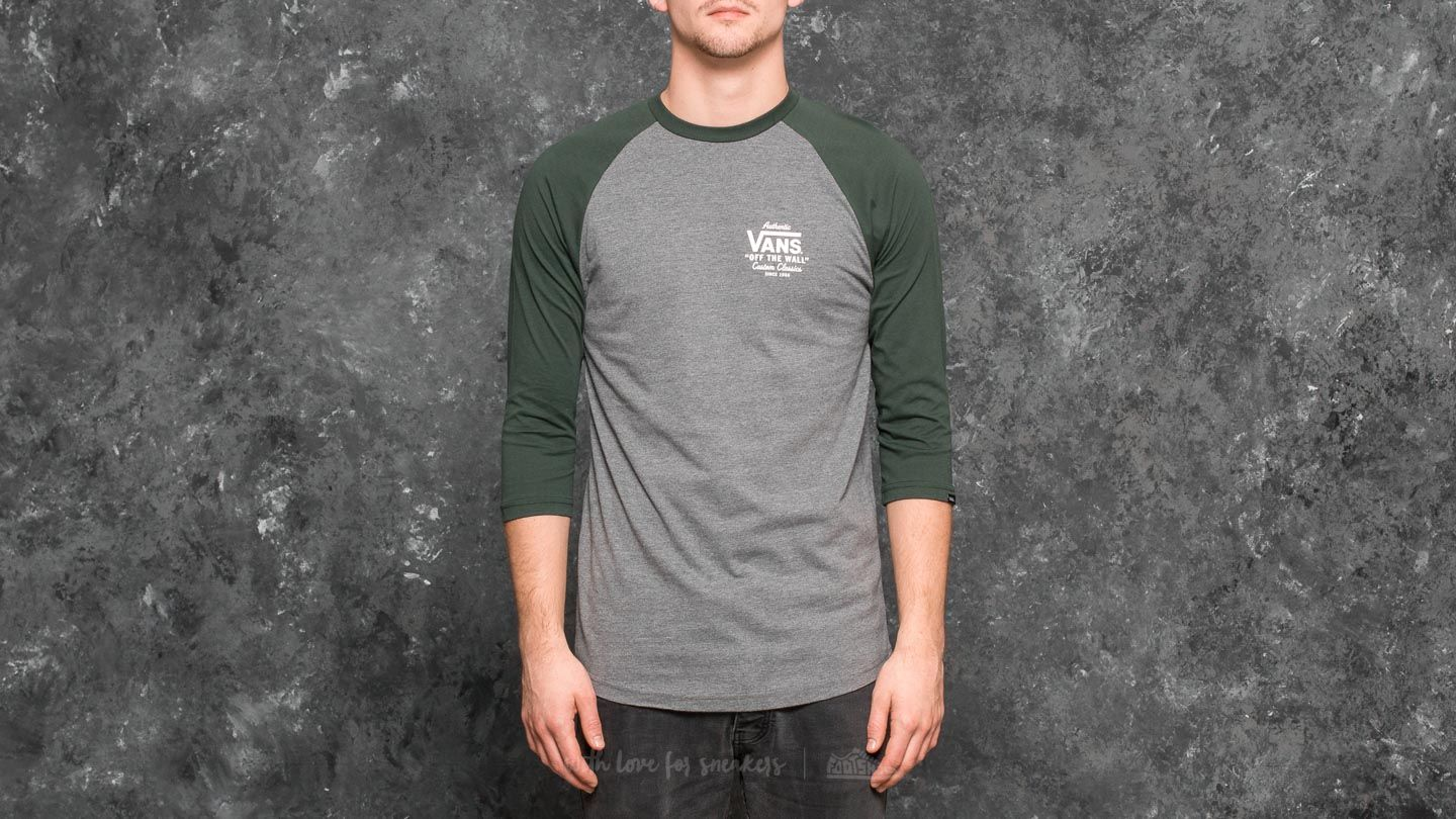 Vans Holder St Raglan Tee Heather Grey Vans Scarab Footshop
