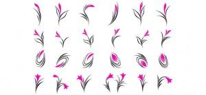 24 Floral Logo Design Elements