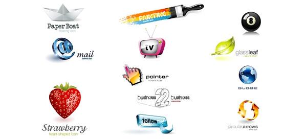 3d logo design template set free logo design templates for Logo design online free 3d
