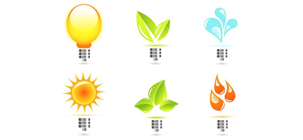 Eco Bulb Vector Logo Templates