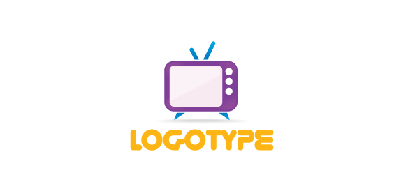 Free Media Logo Template With A Retro Tv Free Logo