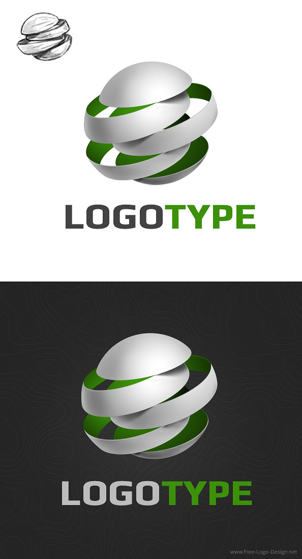 Free 3D Logo Design Template Preview