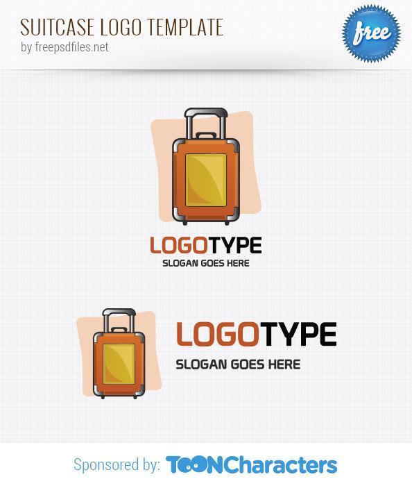 Suitcase Logo Template