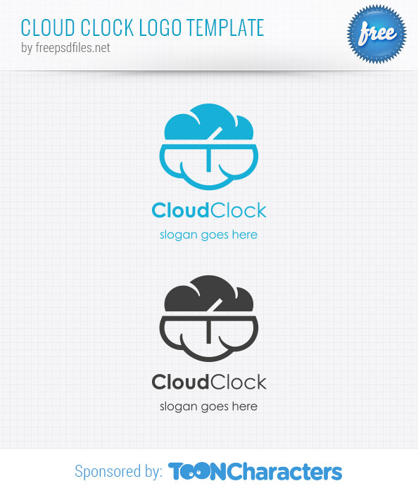 Cloud Clock Logo Template