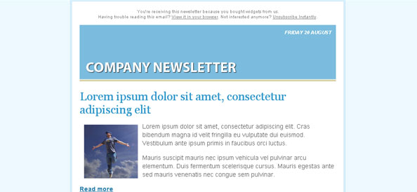 Cool Free Email Newsletter