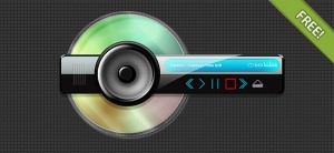 Abstract PSD skin for mp3 player