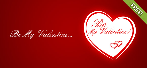 Be My Valentine Free Printable Greeting Cards Template  Free PSD