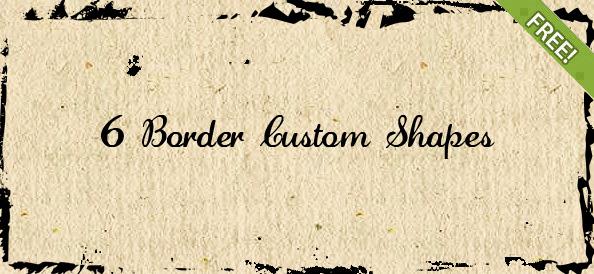 6 Border Custom Shapes