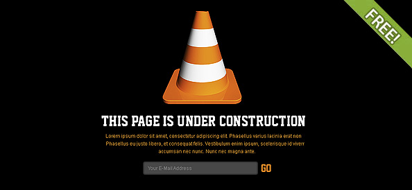 Free PSD Under Construction Page