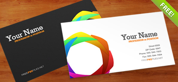 Business card psd template free psd files reheart