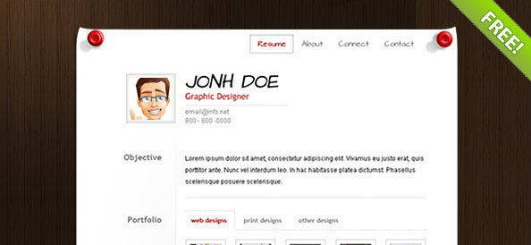 Resume Web Template. Business Cv Portfolio & Cv Website Templates