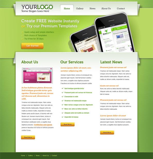 Portfolio PSD Website Template - Free PSD Files - how to create a website template