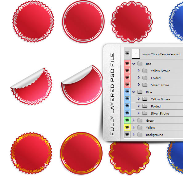 36 Sticker Templates - Ultimate PSD Pack New - Free PSD Files - free sticker template