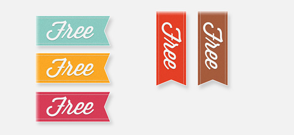 5 Simple PSD Ribbon Templates