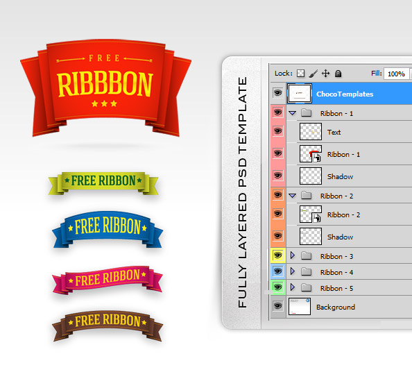 Fully Layered Ribbon Templates