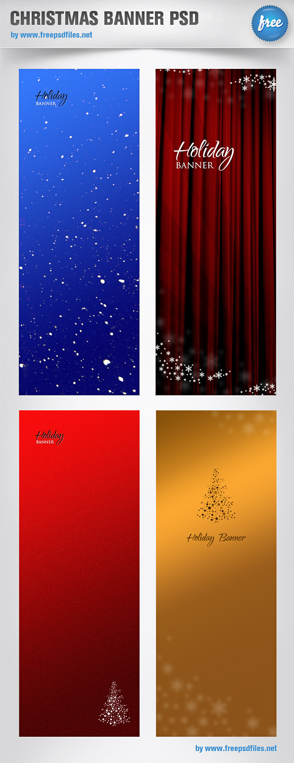 Christmas Banner PSD Templates Preview