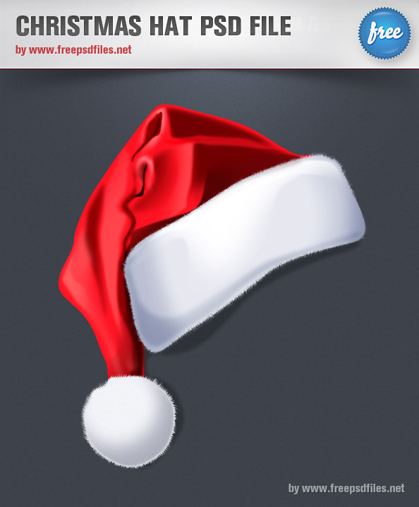 Christmas Hat PSD File Preview