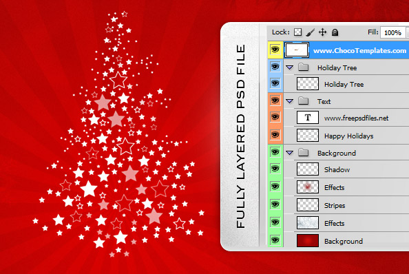 Holiday Background PSD - Free PSD Files