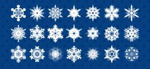 Snowflakes PSD Set